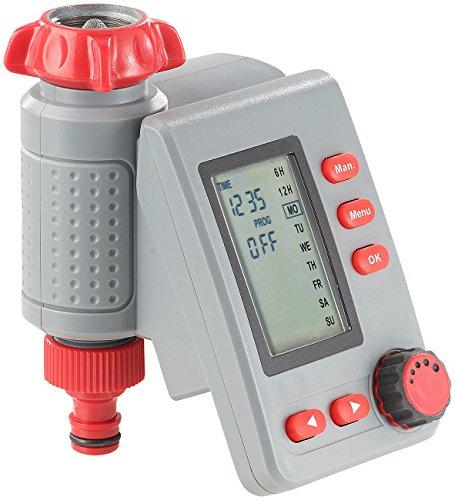 Royal Gardineer Bewässerungstimer Digitaler Bewässerungscomputer BWC-100 mit Magnet-Ventil Automatische Bewässerung