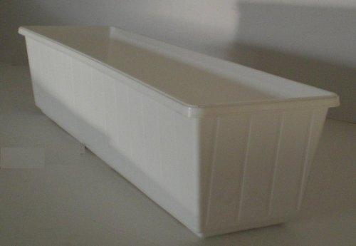 Balkonkasten Blumenkasten Pflanzkasten aus Kunststoff 100 cm Farbe weiß