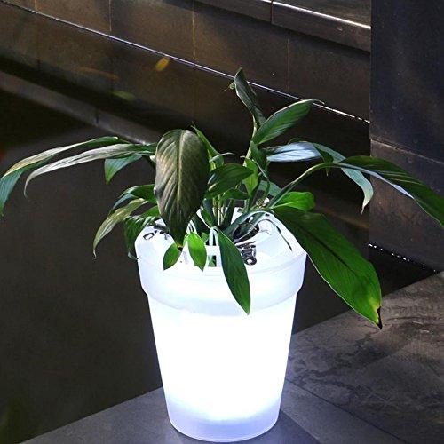 GEZICHTA Solar Beleuchtete Pflanzgefäß Solar LED Blumentopf Licht LED Solar Power Blumentopf Garten Landschaftslampe Outdoor Hof LED Landschaftsleuchte