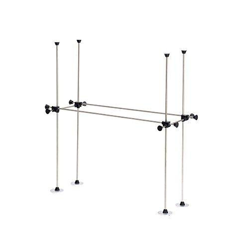 Rankgitter Rankhilfe Edelstahlwetterfest flexibel Balkonkasten ca 20x50cm Hoehe 50cm