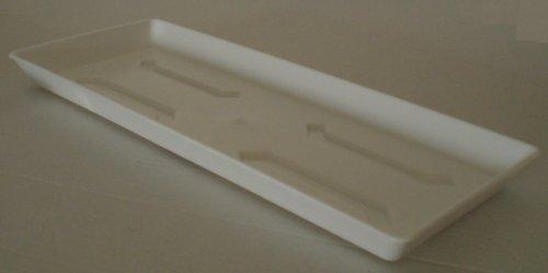 Untersetzer für Balkonkasten Blumenkasten Pflanzkasten aus Kunststoff 60 cm Farbe weiß