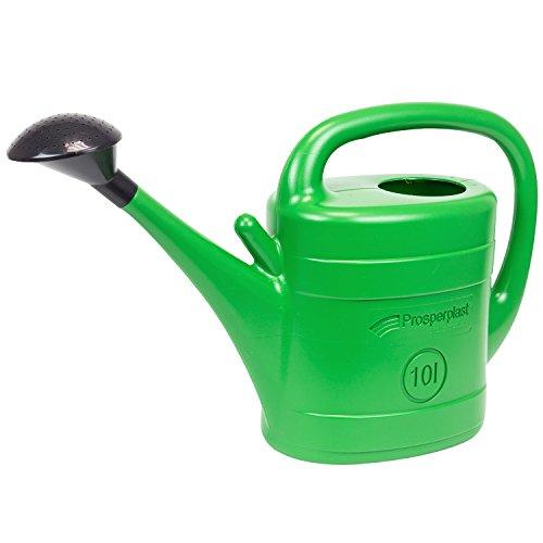 10 L Gießkanne mit Brause Spring Tülle Kanne Farbe grün Plastekanne Pflege