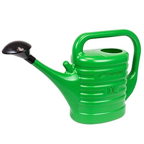 10 Liter Garten Gießkanne mit Brause Tülle Kanne matte Farben grün Plastekanne Pflege