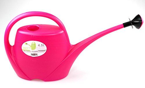 Gießkanne groß 45L Kunststoff mit Brauseaufsatz für die Tülle - Pink