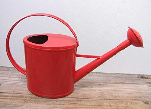 Robuste Gießkanne Metall rot für 2 Liter Kanne Deko-Kanne Gartenkanne