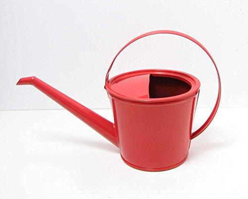 Stabile Gießkanne Metall rot für 15 Liter Kanne Deko-Kanne Gartenkanne