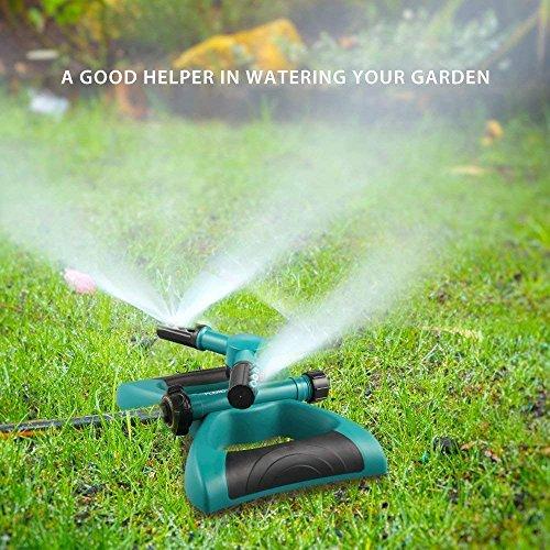 Sprenger Garten Sprinkler Automatische 360 Grad Rotierende Rasen Wasser Sprinkler 3-Arm Sprenger für Bewässerungsanlagen