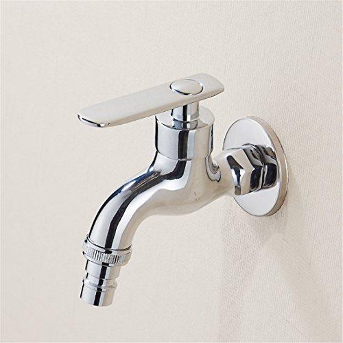 Zirtaps Waschmaschine Wasserhahn G12 Outlet Modernes Design - Waschbecken Wasserhahn Single Kaltwasser Bibcock - Vollkupfer Verchromt Für Balkon Garten Badezimmer Waschraum