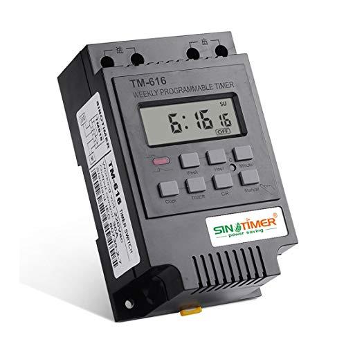 SINOTIMER TM616B-2 30A 220 V Elektronische Wöchentliche Programmierbare Digitale ZEITSCHALTUHR Relais Timer Control Timer Din-schiene - Schwarz