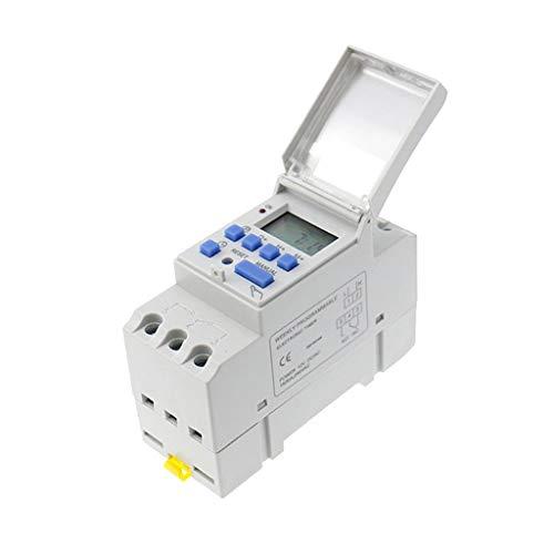 SunniMix DC 24V DIN Schiene Wöchentliche LCD Programmierbare Zeitschaltuhr Zeitrelais - DC 12V