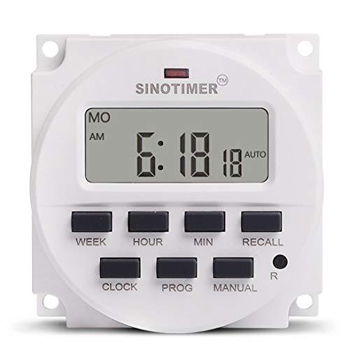 Swiftswan TM618N-4 12V LCD Digitaler Wechselstrom-programmierbarer Zeitschaltuhr mit UL-gelistetem Relais mit Countdown-Zeitfunktion