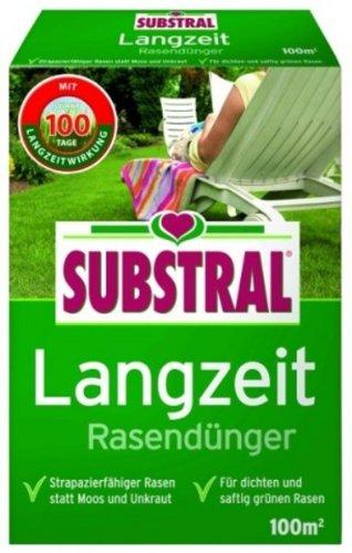 SUBSTRAL Langzeit Rasendünger  2kg für 100qm optimale Rasenfläche