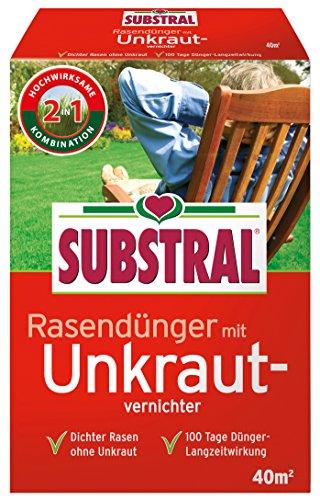 Substral  Rasendünger mit Unkrautvernichter f 40 m² - 08 kg