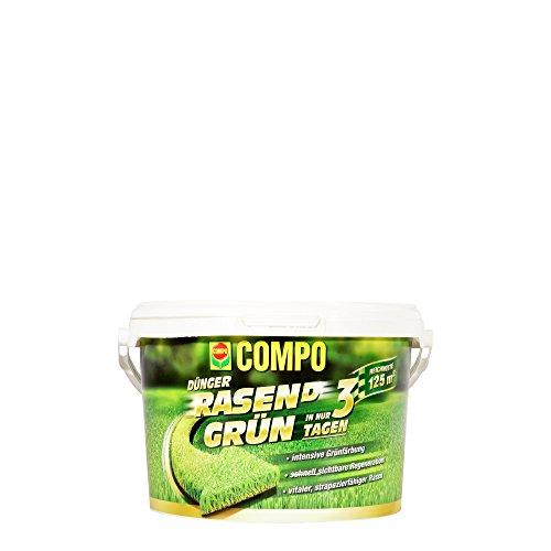 COMPO Dünger Rasend Grün Schnelle sichtbare Rasenregeneration Granulat 375 kg 125 m²