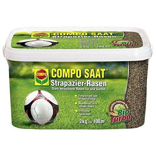 COMPO SAAT Strapazier-Rasen 2 kg  ein optimaler Spiel- u Sportrasen