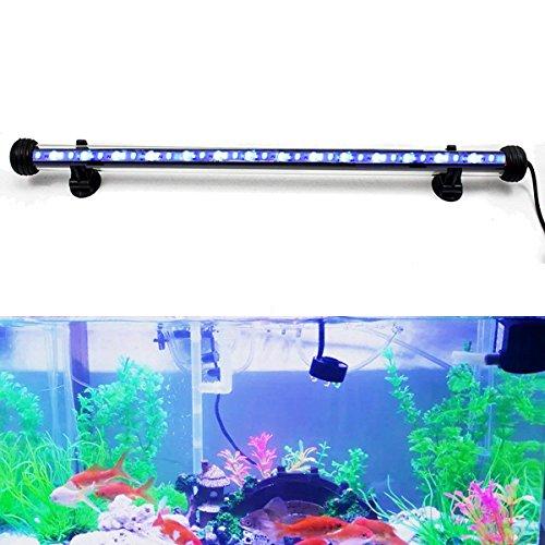 DOCEAN 58W 48cm LED Aquarium Beleuchtung Aquarium Lampe Aquariumleuchte IP68 Wasserdicht Unterwasserleuchte Weiß  Blau Licht