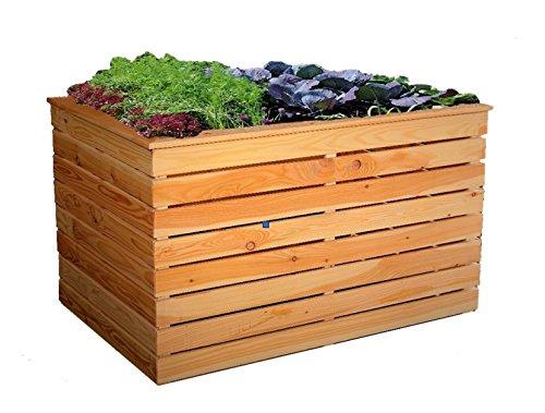 Metallmichl Hochbeet aus Lärche Holz ohne Boden 100 x 70 x 72 cm Holz Frühbeet Pflanzkasten Gemüsebeet