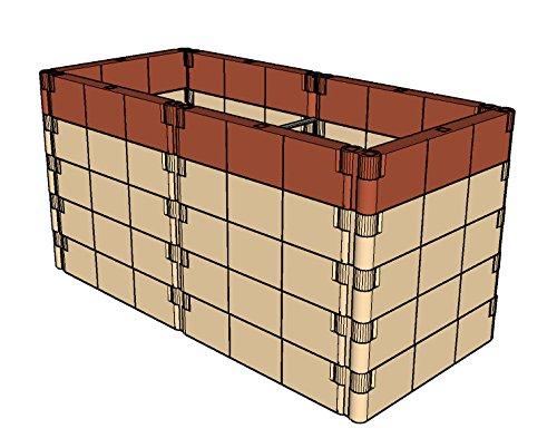 Aufbausatz mit Stabilisierungs-Set für Anzucht-Frühbeet od Hochbeet Profilineterracotta 130x6