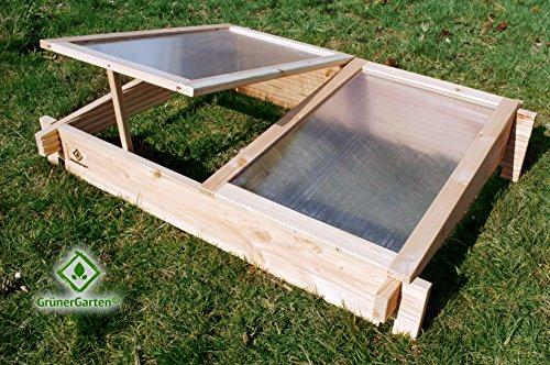 GrünerGarten Hochbeet GRÖN - Premiumqualität Bio Douglasie Blockbohlen sehr robust sehr einfacher Aufbau ohne Werkzeug völlig schadstofffrei Frühbeetaufsatz