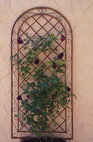 Gabella Rankgitter Spalier Wand Rankhilfe Sichtschutz Metall Provence XXL ROST 120240cm