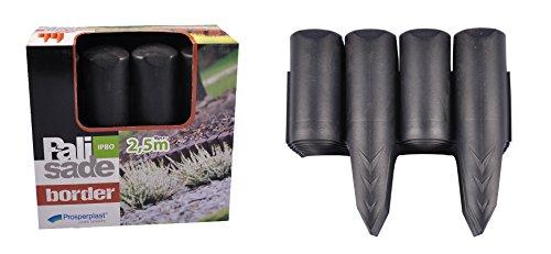 Prosperplast Beetumrandung anthrazit Palisade 25m Beeteinfassung Rasenkante Baumumrandung