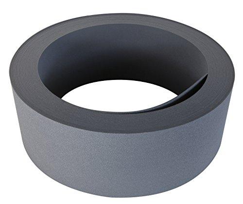 Windhager Strong Rasenkante PP-Kunststoff Beetumrandung Beeteinfassung Mähkante Anthrazit 10m x 12cm 06816
