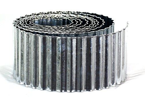 Metall Beeteinfassung verzinkt 015 x 6 m mit Sicherheitskante  Rasenkante  Beetumrandung  Raseneinfassung  Palisade