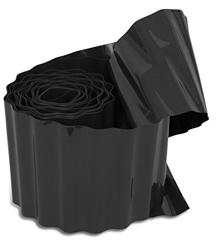 Windhager Rasenkante Raseneinfassung Beeteinfassung Anthrazit 500 gm² 9 m x 20 cm  06413