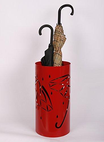 Schirmständer Design Umbrella open 49 x Ø 225 cm rot  Marke Szagato Made in Germany Regenschirmständer Schirmhalter Regenschirmhalter