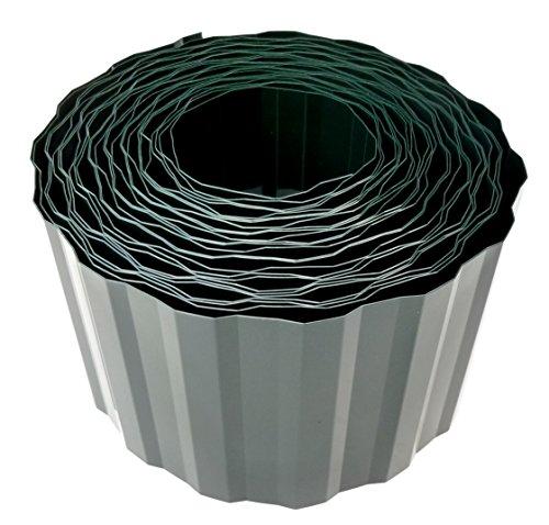 EXCOLO Rasenkante 9m lang 10cm hoch Rasenumrandung Beetbegrenzung Raseneinfassung Mähkante grün