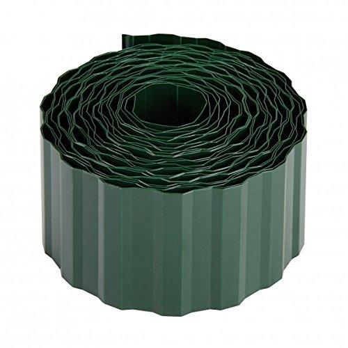 Xclou Rasenkante in Grün Beetumrandung aus umweltfreundlichem PET robuste Beeteinfassung Mähkante ca 9 m lang