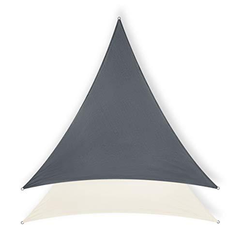 Minuma Sonnensegel  Sonnenschutz  Wetterschutzsegel  Windschutz  Sichtschutz - atmungsaktiv mit UV-Schutz  Dreieck 3 x 3 x 3 m anthrazit