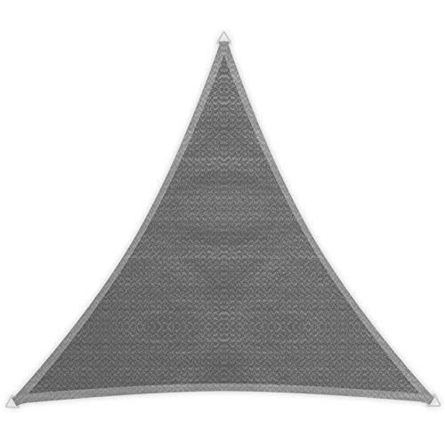 Windhager Sonnensegel Sonnenschutz Sunsail ADRIA Dreieck 36 x 36 x 36 m gleichschenkelig UV-Schutz witterungsbeständig und atmungsaktiv GRANITGRAU 10967