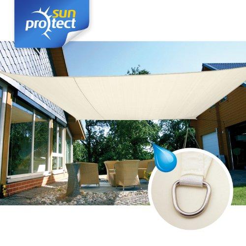 sunprotect 83246 sunprotect Sonnensegel waterproof 6 x 4 m Rechteck creme 1 Stück