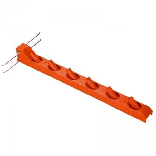 Gardena combisystem-Geräteleiste Wandhaken für die Aufbewahrung von 6 combisystem-Geräten und Stielen platzsparend aus hochwertigem Kunststoff und Metall inkl Schrauben und Dübeln