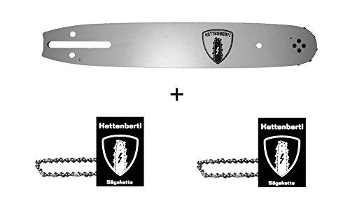 2 x Sägekette  1x Kettenbertl Führungsschiene für Motorsäge OBI BKS 40 40 cm Schwert Schnittlänge 38 13 mm