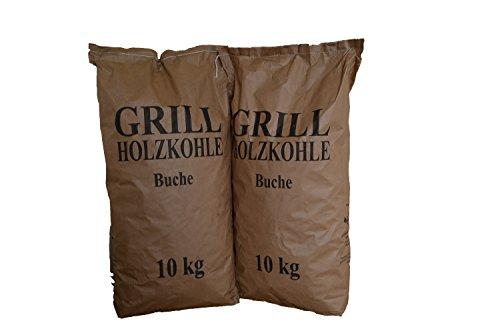 20 kg Grillholzkohle Holzkohle Buche