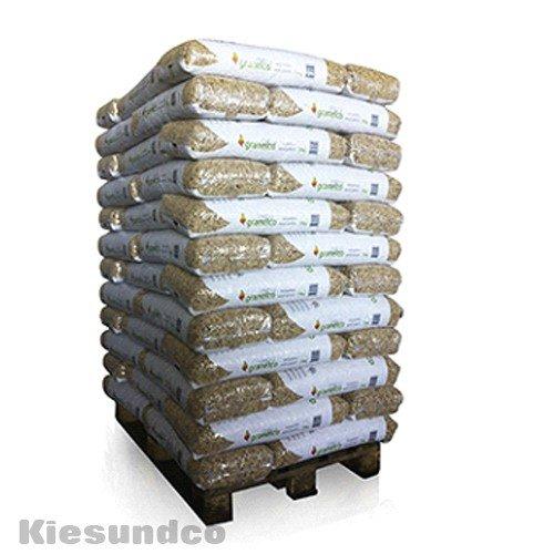 Holzpellets 70 x 15kg 6mm volle Palette- Kaminpellets Heiz Pellet - ohne Bindemittel chemischen Zusätzen