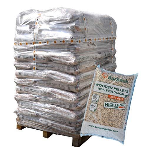 Naturbrennstoffe Kretschmann OHG ▶ 6mm Holzpellets Marke Barlinek ENplus A1 Zertifiziert 038€kg 960kg auf Palette kostenfreie Lieferung handlich verpackt in 64 Pakete à 15kg Holz-Pellets