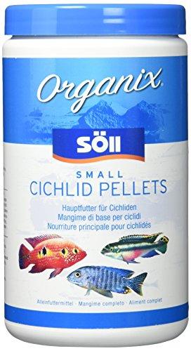 Söll 16192 Organix Small Cichlid Pellets - Aquariumfutter - Zierfischfutter für Barsche - 1 l