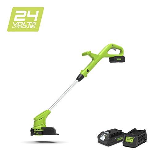 Greenworks 24V Akku-Rasentrimmer 30cm inklusive 2Ah Akku und Ladegerät - 2101207UA