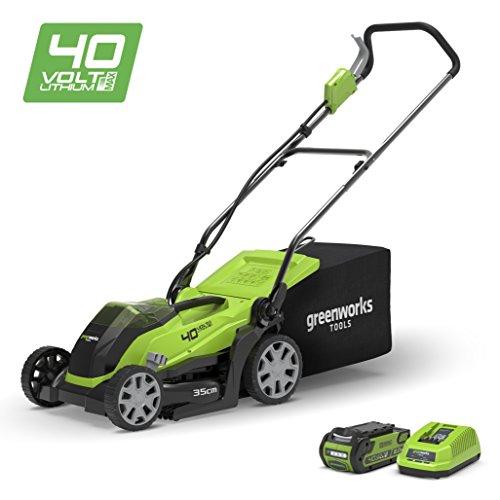 Greenworks 40V Akku-Rasenmäher 35cm inklusive 2Ah Akku und Ladegerät - 2501907UA