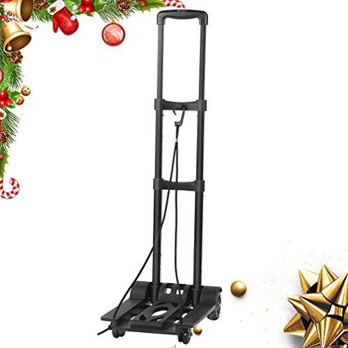 Gepäckwagen klappbarer Transportwagen tragbarer Wagen leichter Transportwagen 360-Grad-Designrad 4 Runden Höchstlast 25 kg schwarz