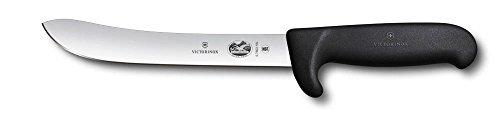 Victorinox Küchenmesser Fibrox Safety Nose Schlachtmesser Schliff normal schwarz 18 cm Messer 0