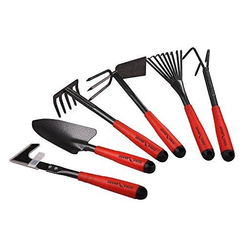 FLORA GUARD Gartengeräte-6 Stück Garten Werkzeug Set K718