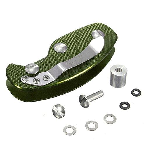 Luwu-Store Aluminiumschlüsselhalter Clip Organizer Ordner-Schlüsselring-Kasten-Taschen-Werkzeug-Grün