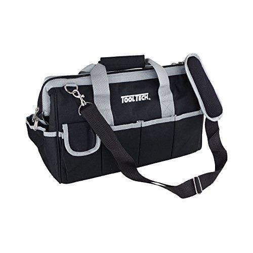 Werkzeugtasche 40x20x25cm Nylon schwarz leer Tragetasche Reißverschluss Tasche