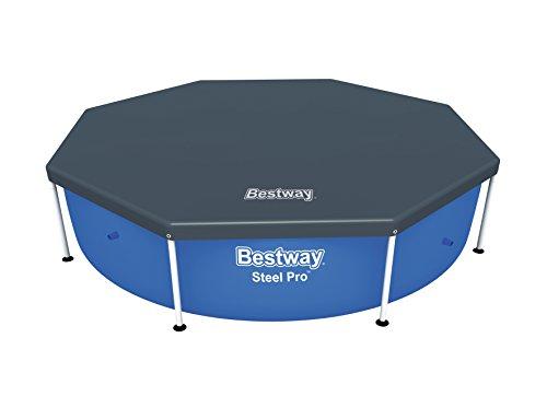 Bestway Flowclear PVC-Abdeckplane Ø244 cm für Steel Pro Frame Pool Ø244 cm grau