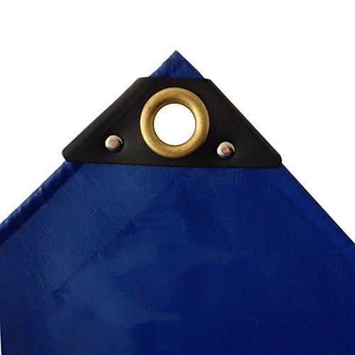 650 gm² blaue PVC Abdeckplane 5 x 6m 30m² LKW Plane Industrie Gewebeplane ÖsenUV stabil reissfest wasserdicht Plane Schutzplane