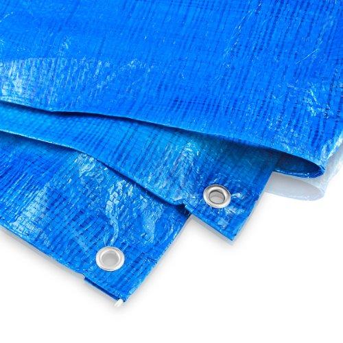 Abdeckplane 8 x 10 Meter - 60 g blau